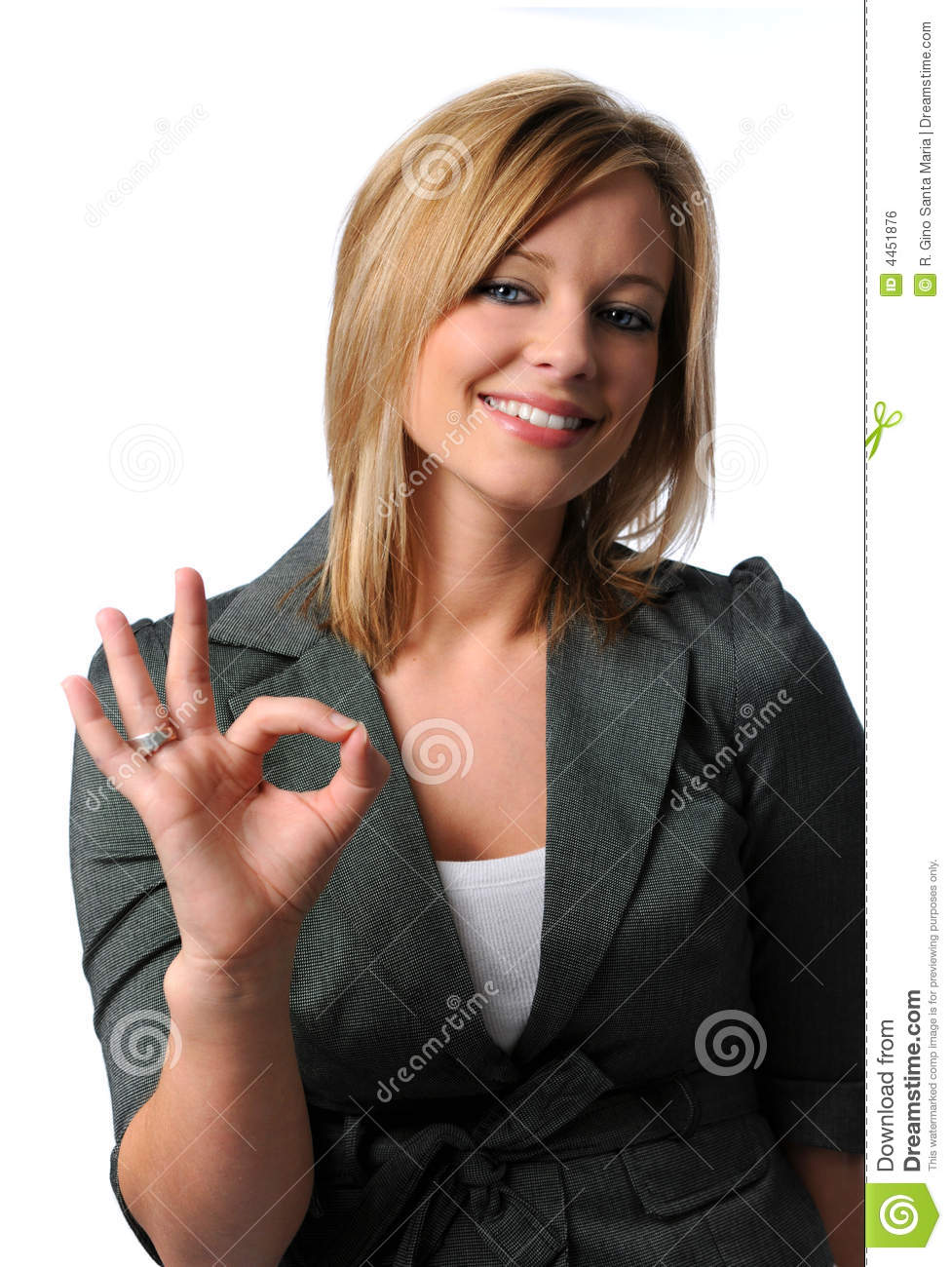 Cute girl giving OK sign stock photo. Image of gesturing