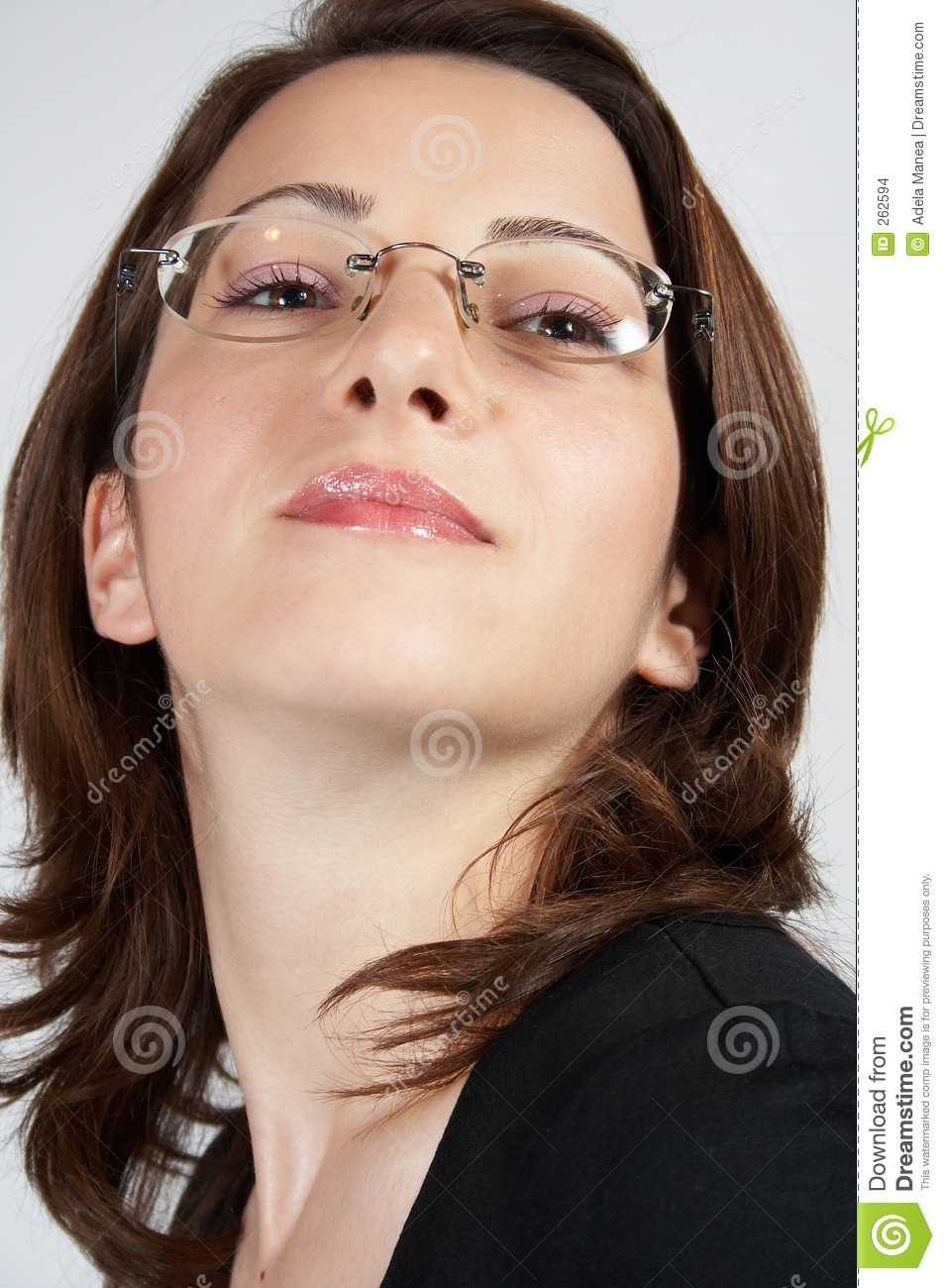 business woman with glasses 02 stock images image 262594