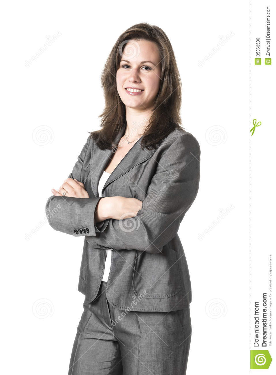Business Woman In Grey Suit Royalty Free Stock Image ...