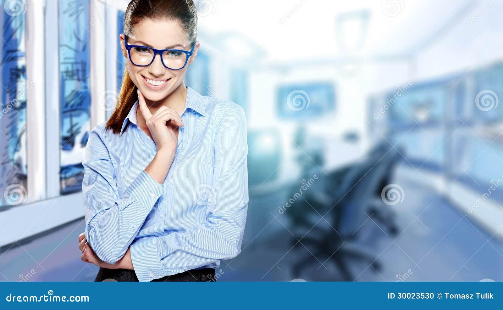 Beautiful business woman