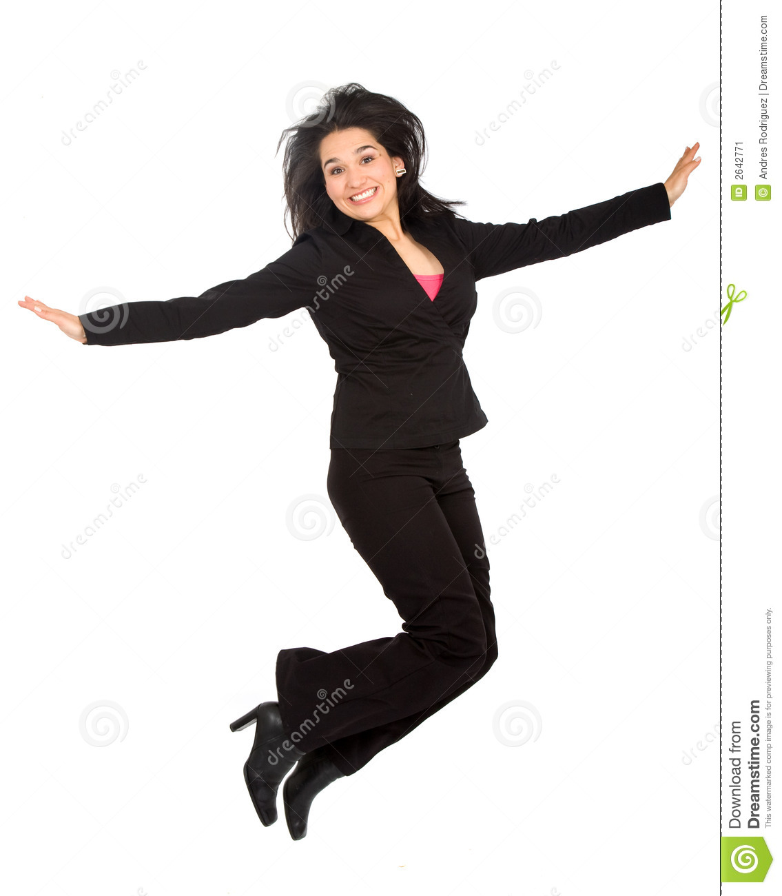 Business Woman Jumping...