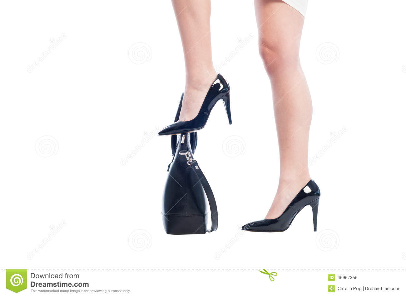 Woman Stepping On Man Business woman legs stepping