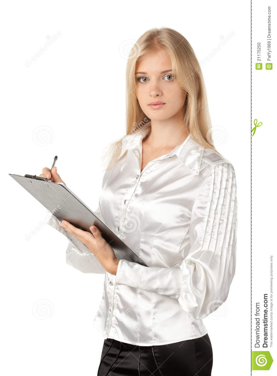 Business woman making notes