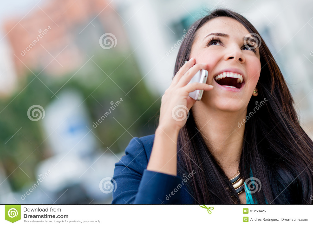 Business Woman Making A Phone Call Royalty Free Stock