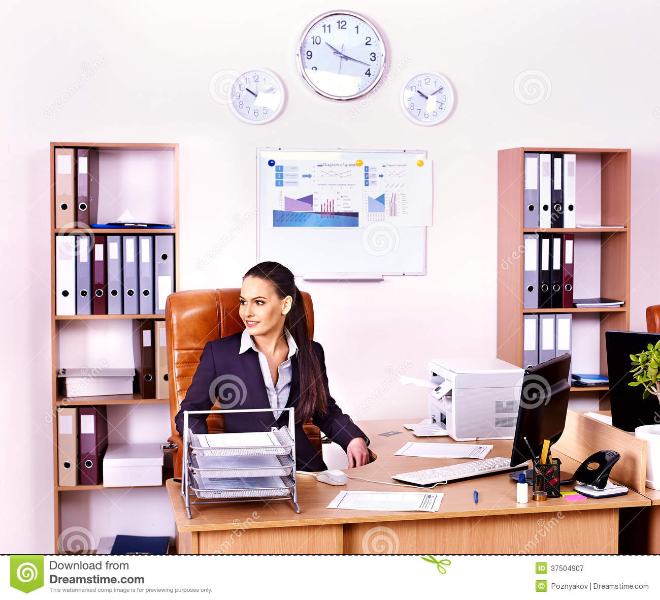 business woman manager at office  stock image