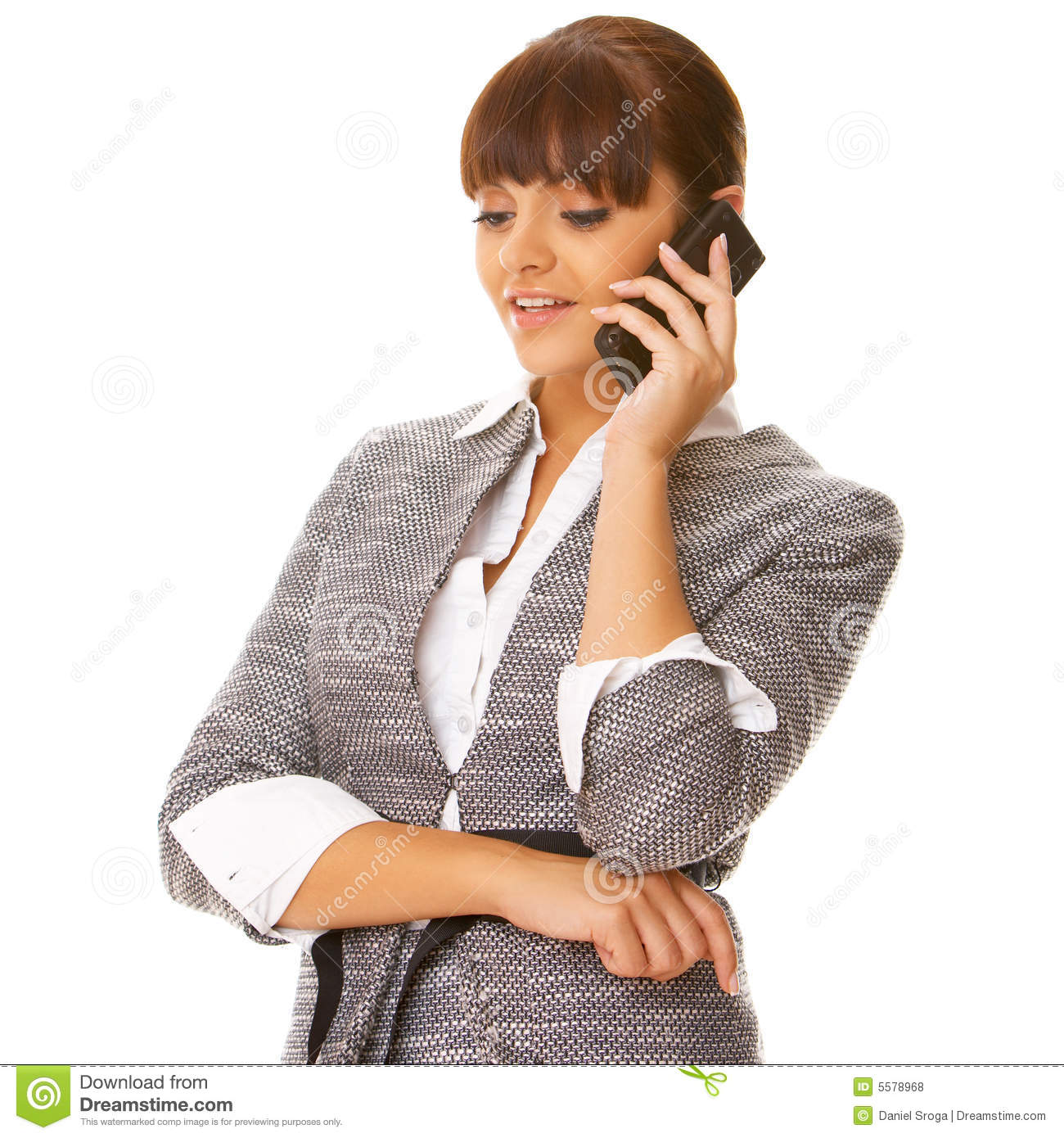 Blonde Girl With Cell Phone Stock Photo - Image of mobile