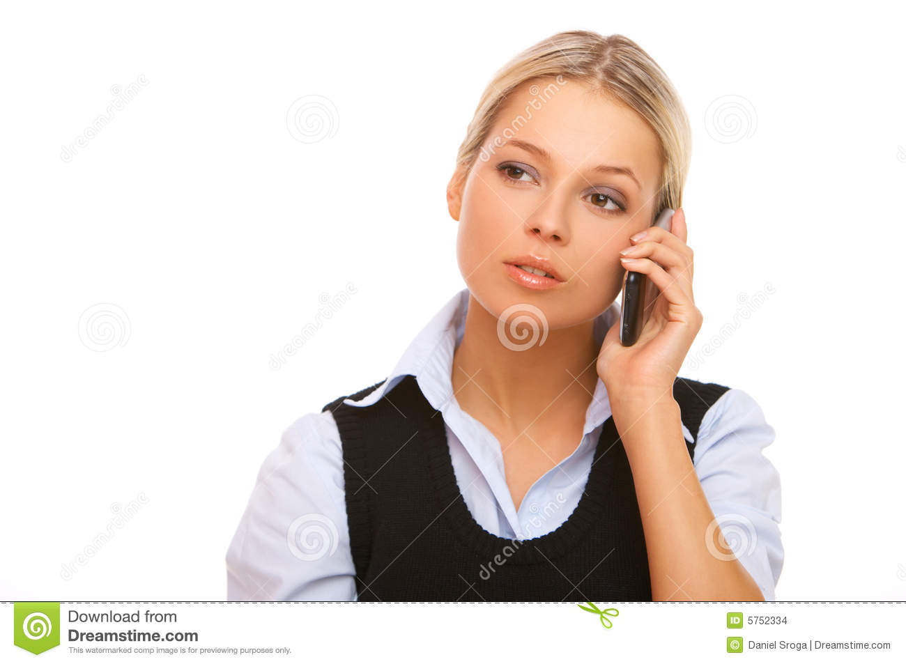 Blonde Girl With Cell Phone Stock Image - Image of girls