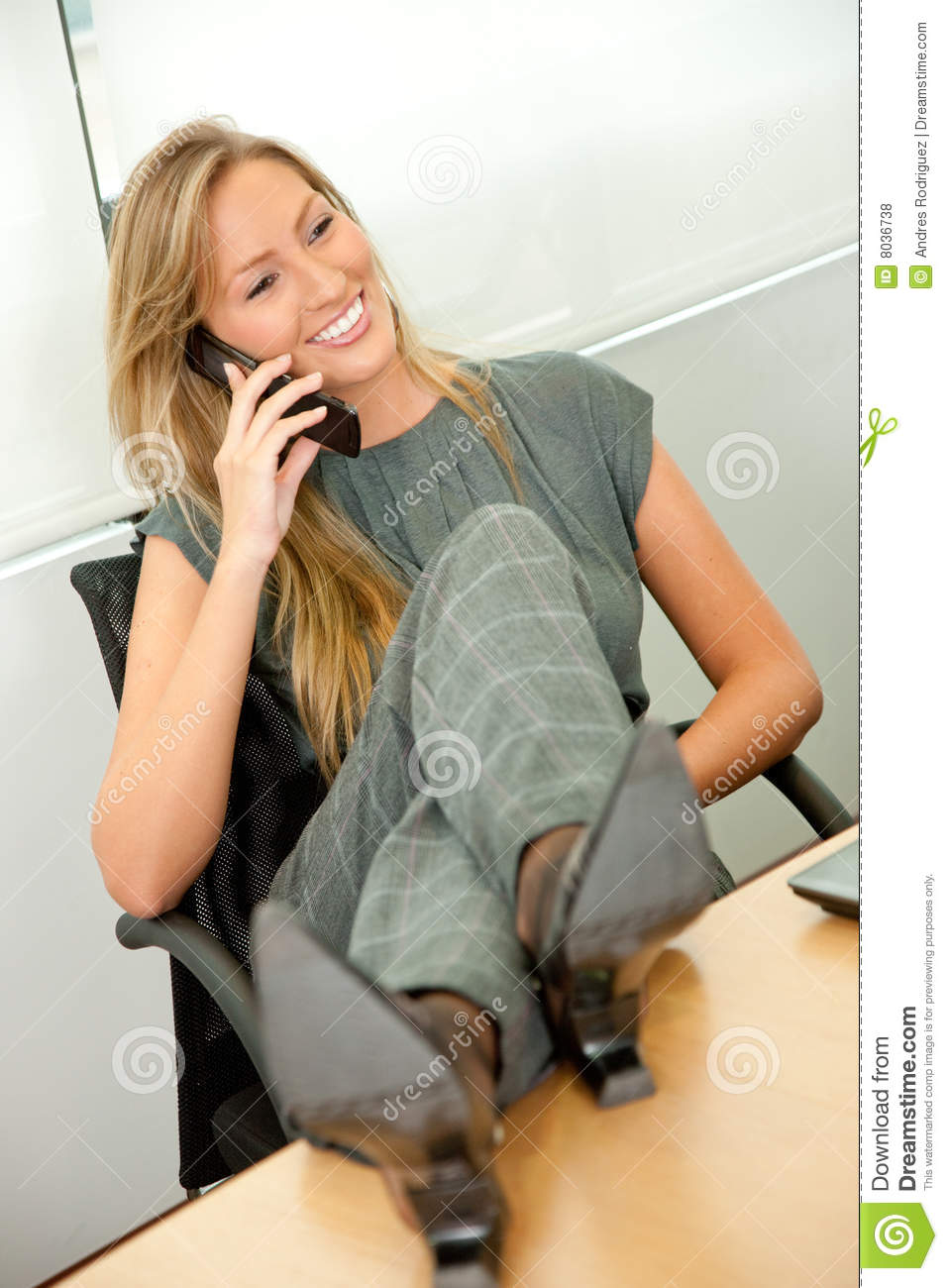 Business Woman On The Phone Royalty Free Stock Photos - Image: 8036738