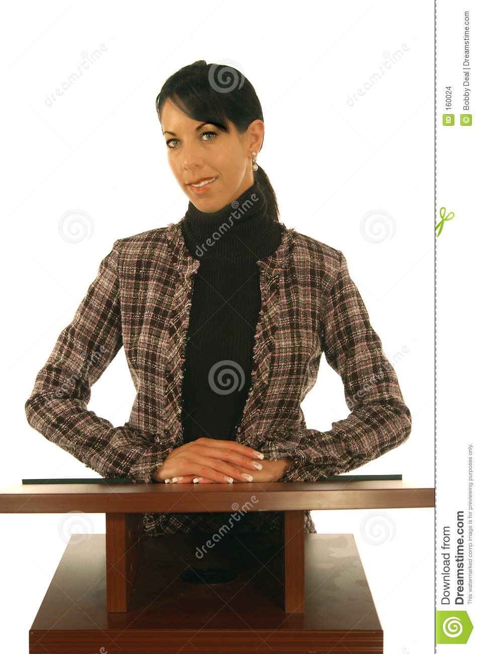 Business Woman At Podium