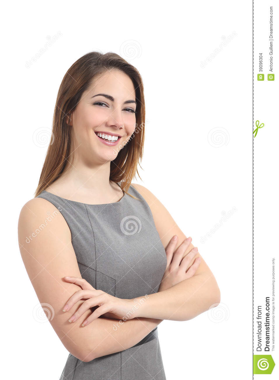 Business woman posing with a perfect smile