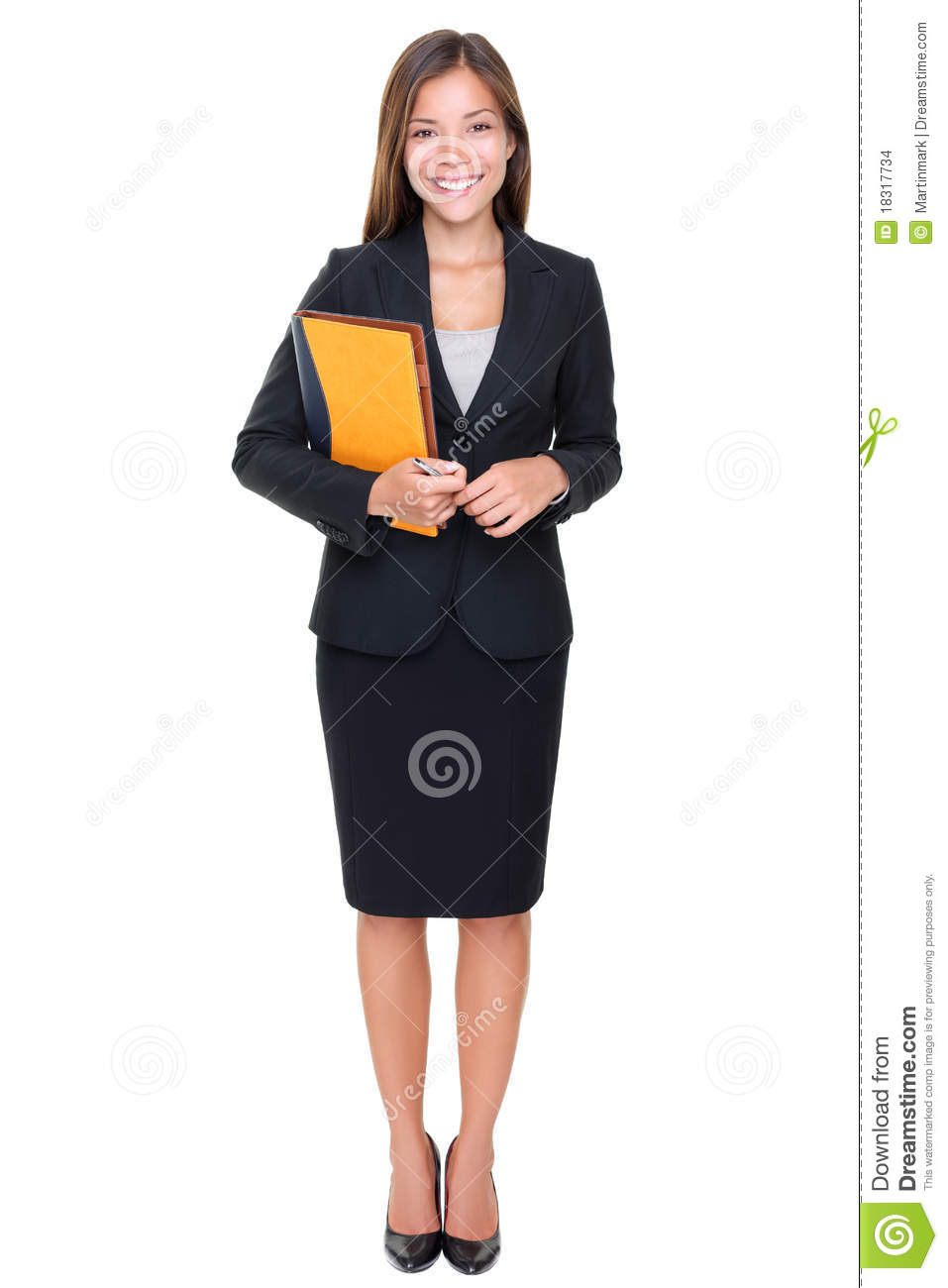 Business Woman Real Estate Agent Standing Stock Photo Image Of - Real estate agent business plan template