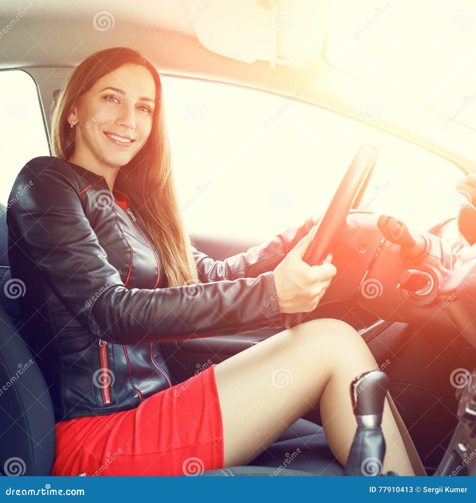 Car Short dress driving