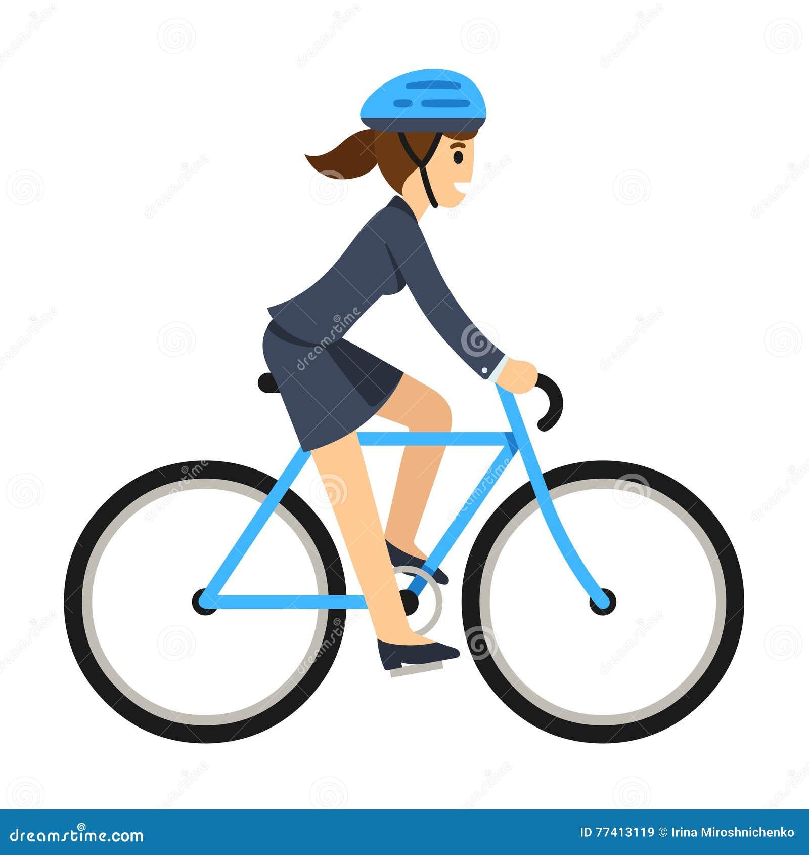 business woman riding a bicycle stock vector clip art bike rack clip art bike race
