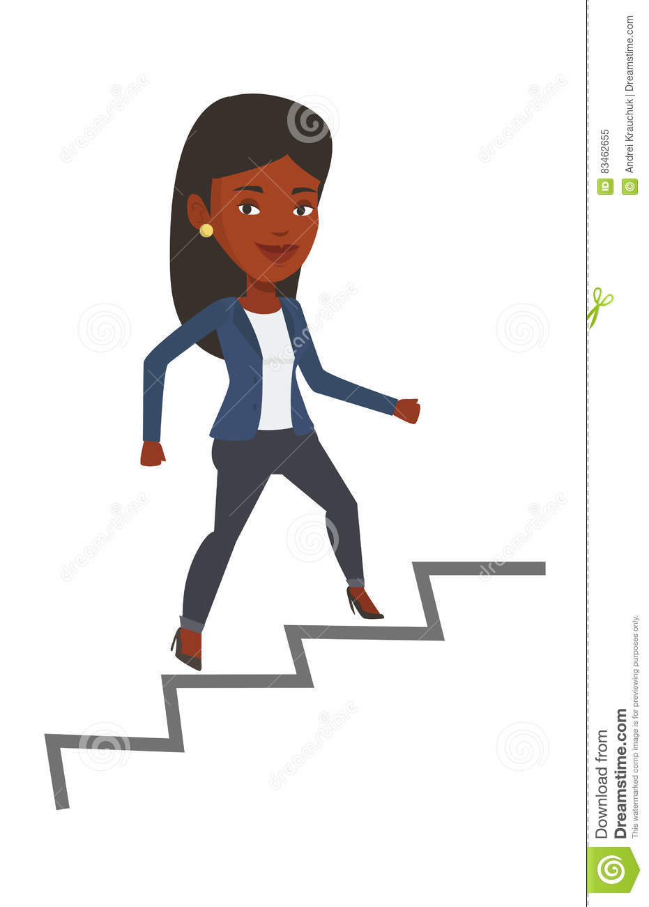 business w running up the career ladder stock vector image business w running up the career ladder
