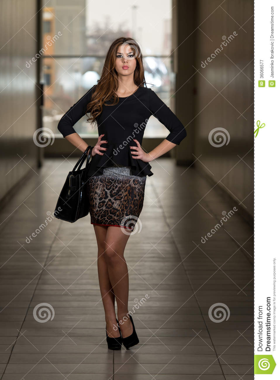 Business Woman At The Shopping Mall Royalty Free Stock Photography Image 36066577