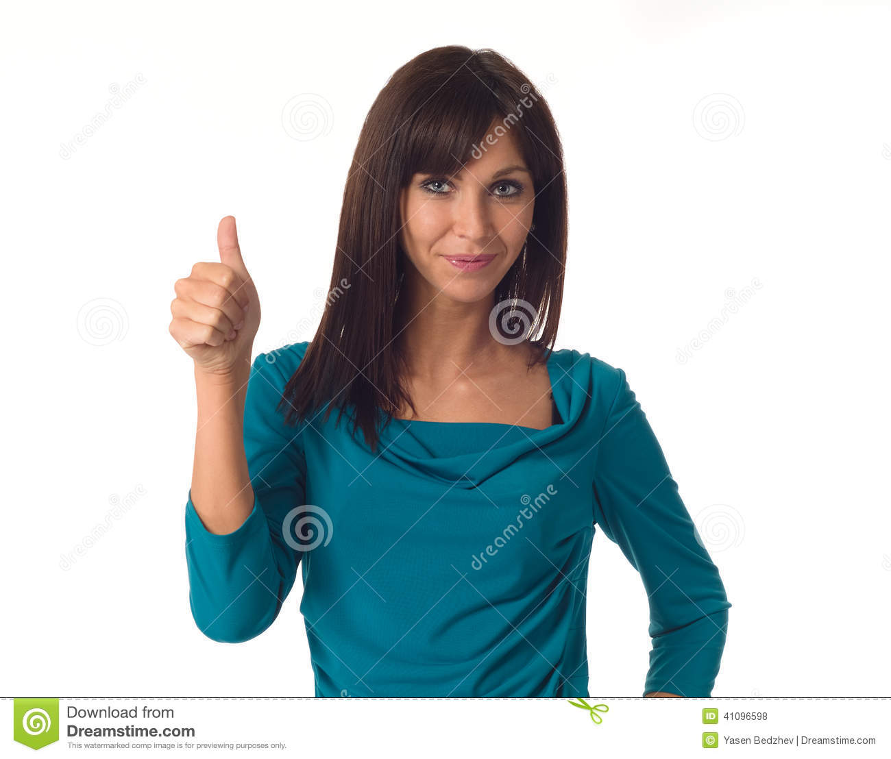 Business woman showing ok sign