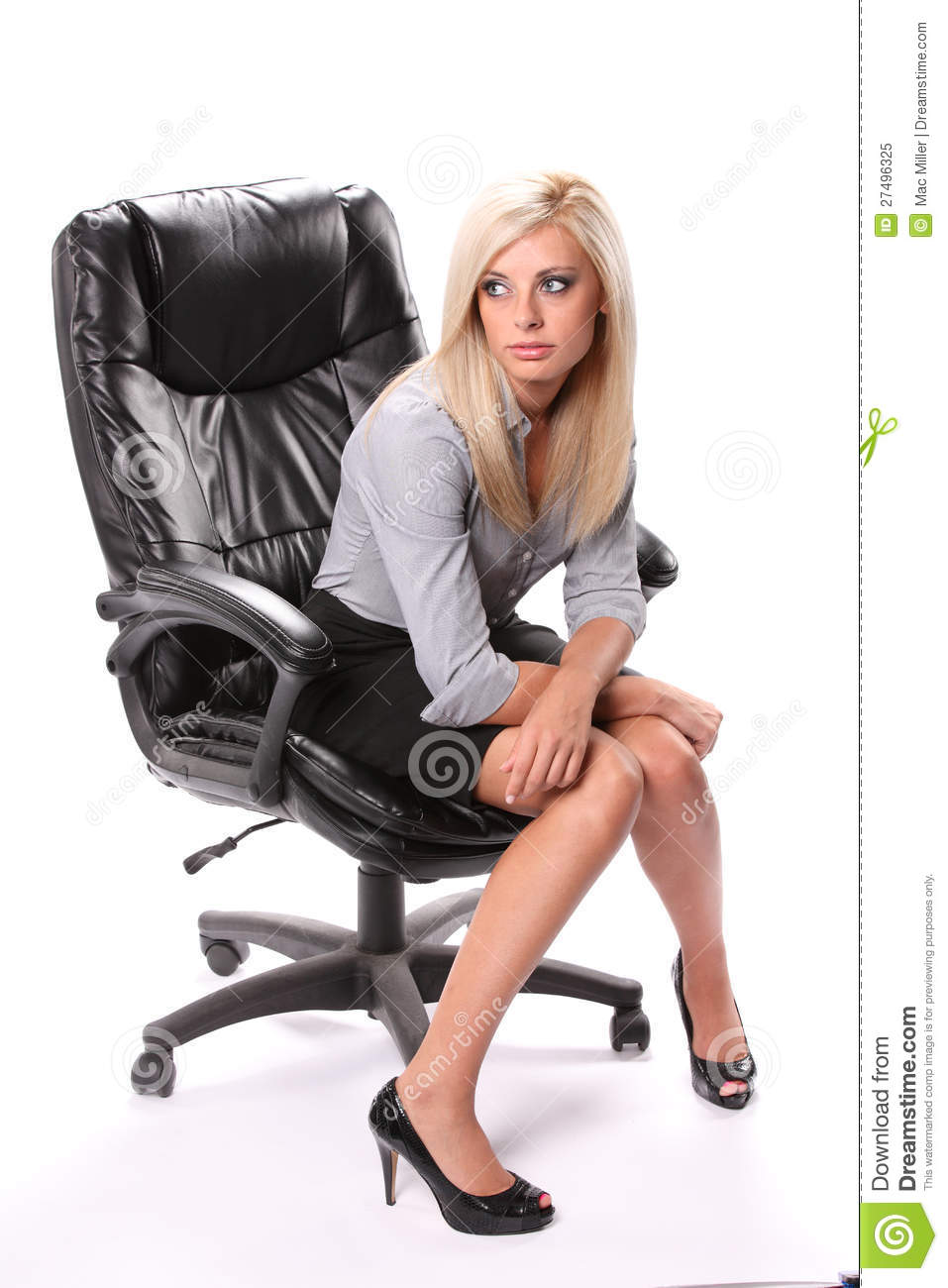 Business Woman Sitting Stock Image Image Of Businesswoman