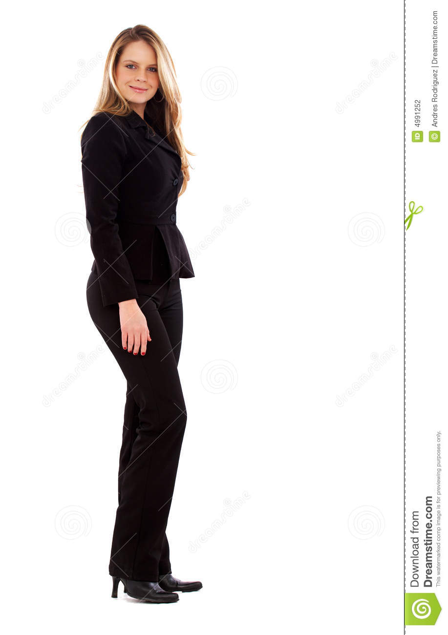 Business Woman Standing Stock Photography Image 4991252