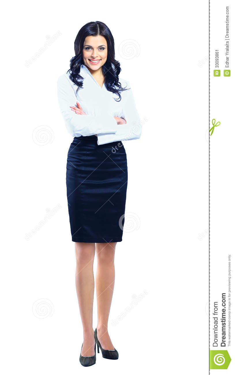 Woman Standing White Background Business woman standing inWoman Standing Side White Background