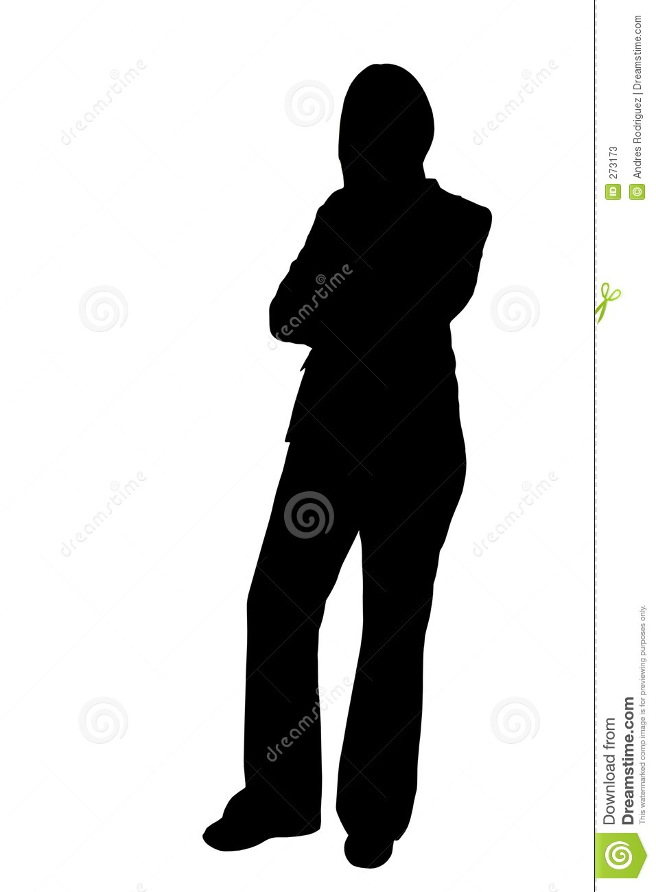 Stock photos business woman standing silhouette illustration