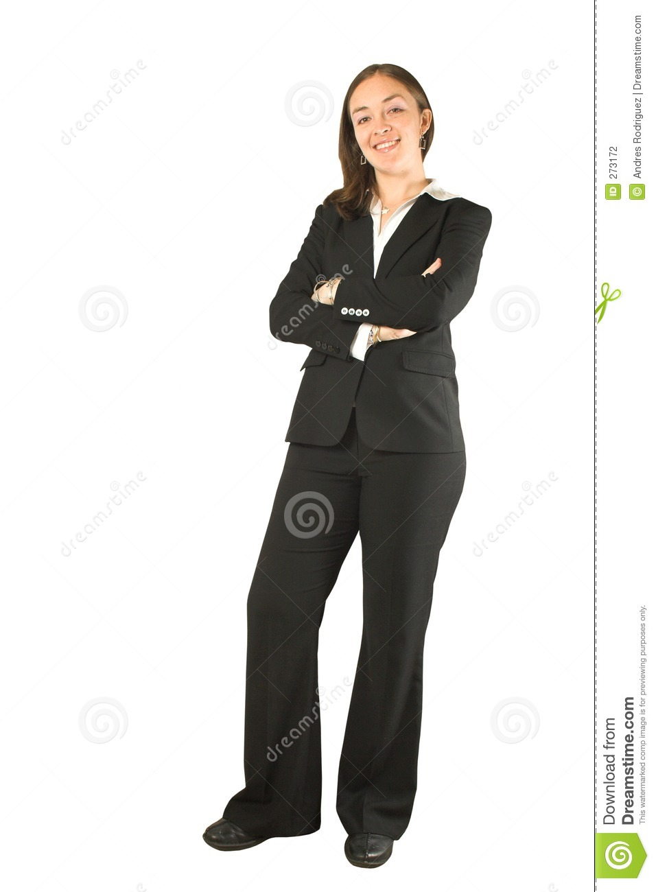 Business Woman Standing And Smiling Stock Photography ...