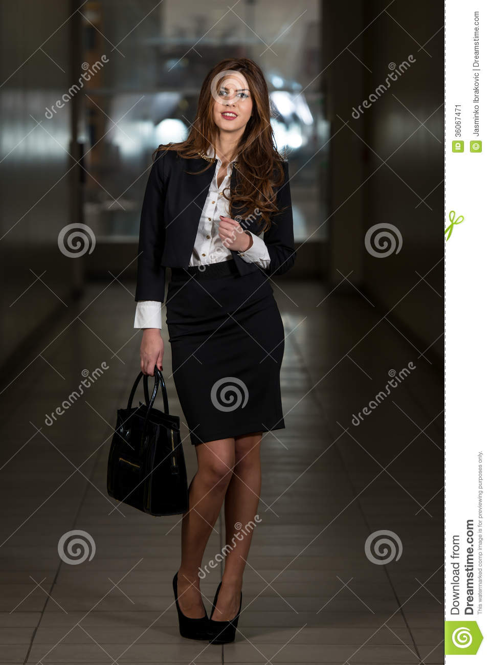 Business Woman In Suit At The Shopping Mall Stock Image Image 36067471