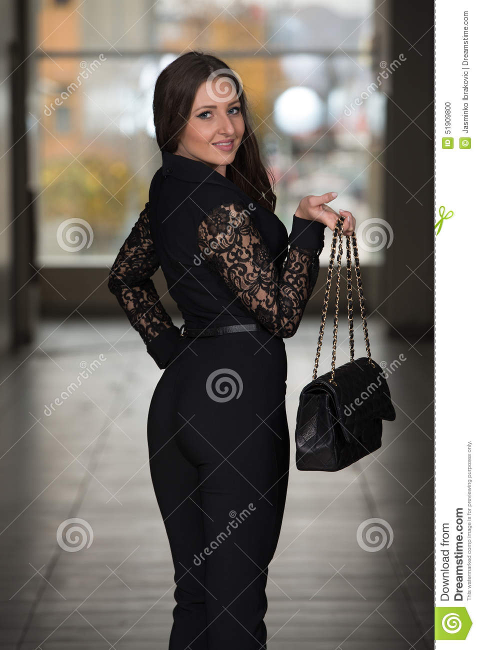 Business Woman In Suit At The Shopping Mall Stock Photo Image 51909800