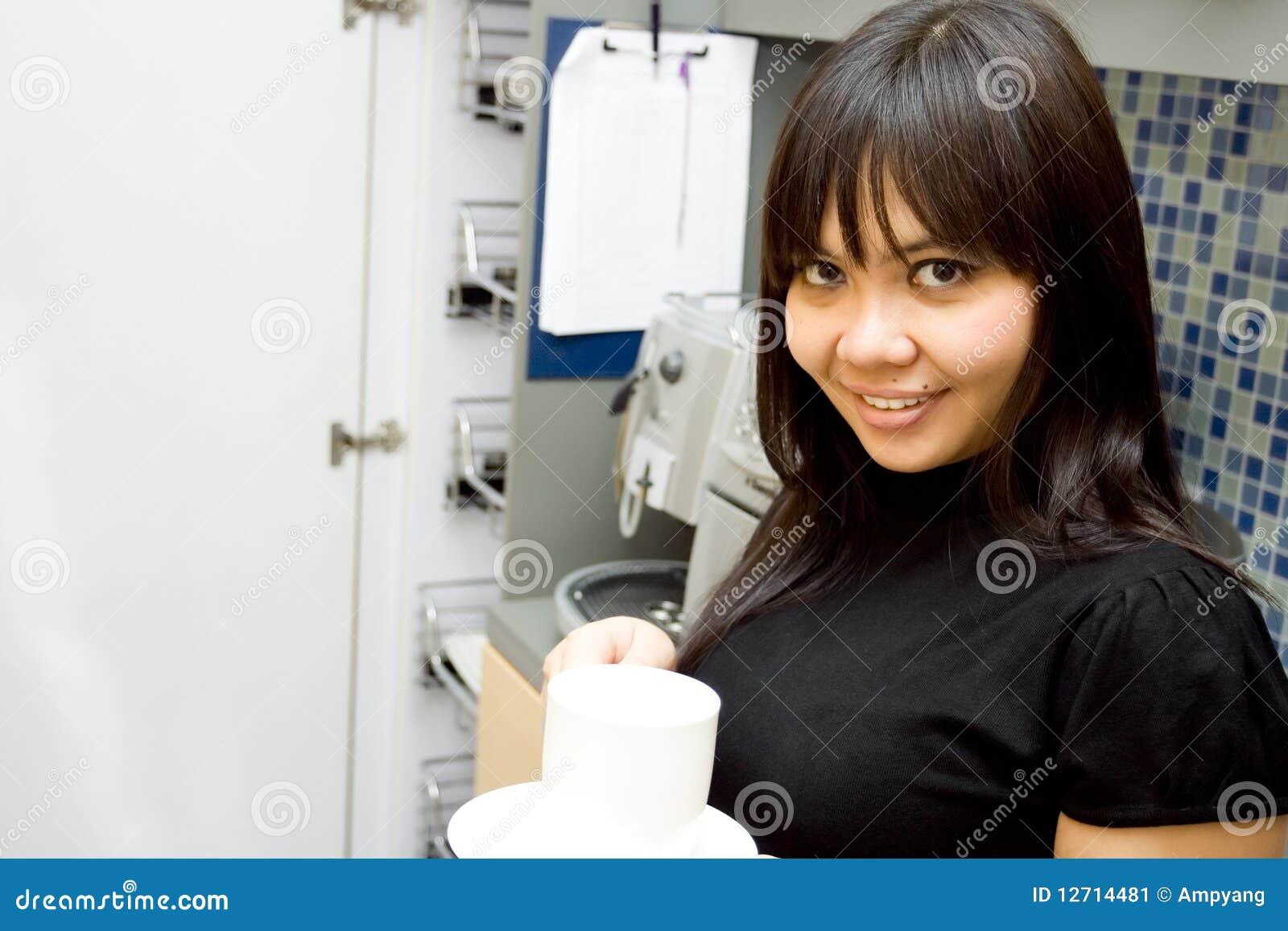 Take Break Coffeebreak : Business woman take coffee break stock image image of happy