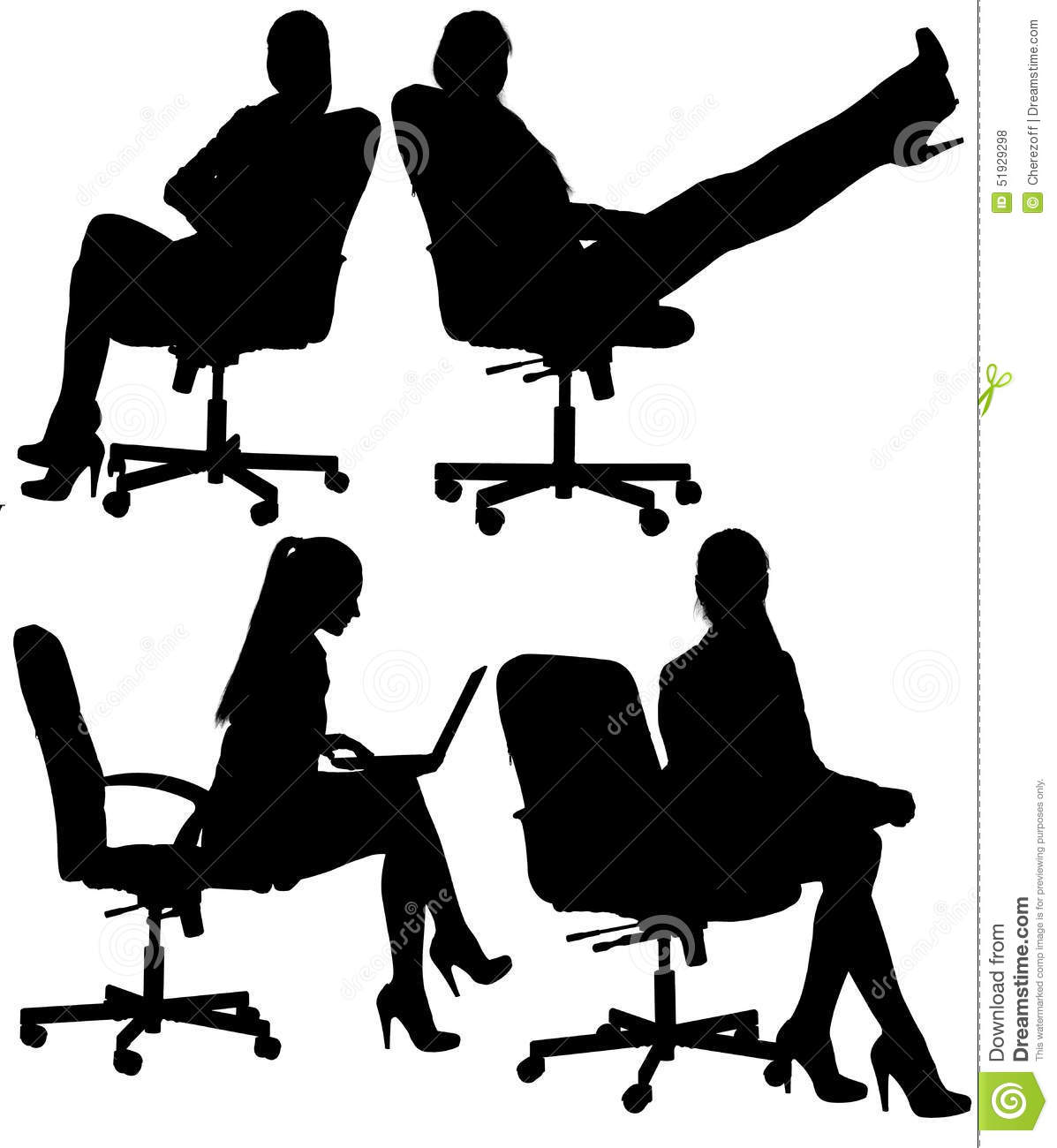 Business woman to sit in an office chair
