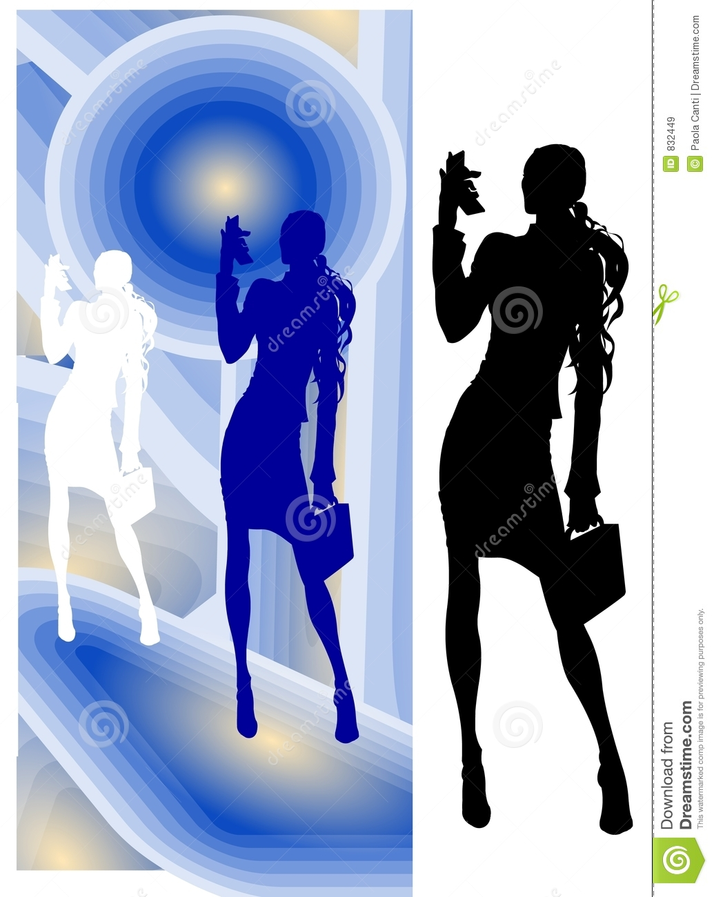 Business Woman with Video-Phone