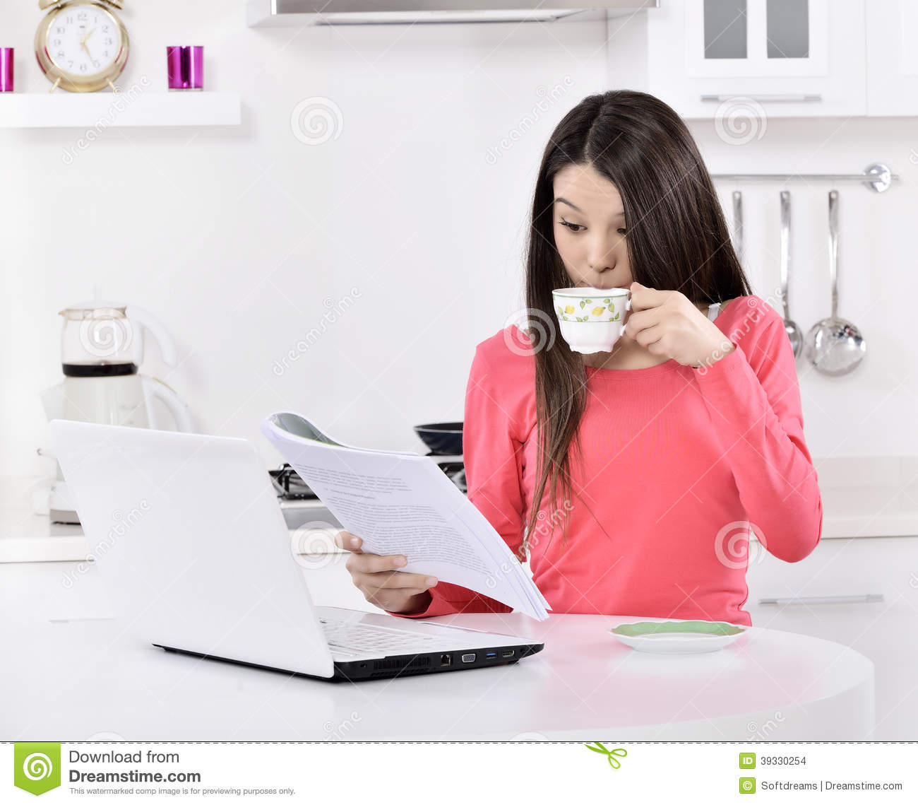 Business Woman Working Royalty Free Stock Image