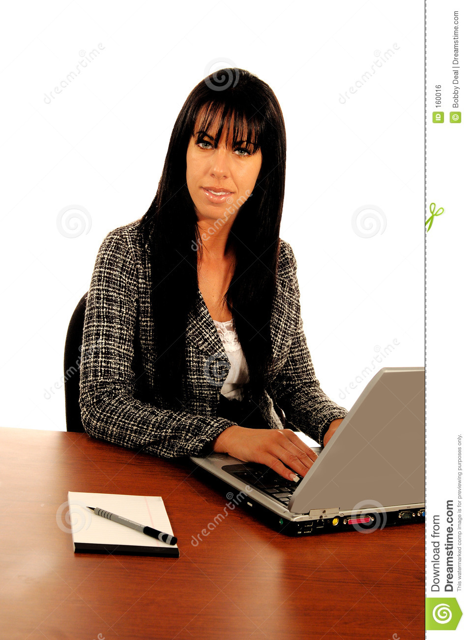 Business WomanAt Computer