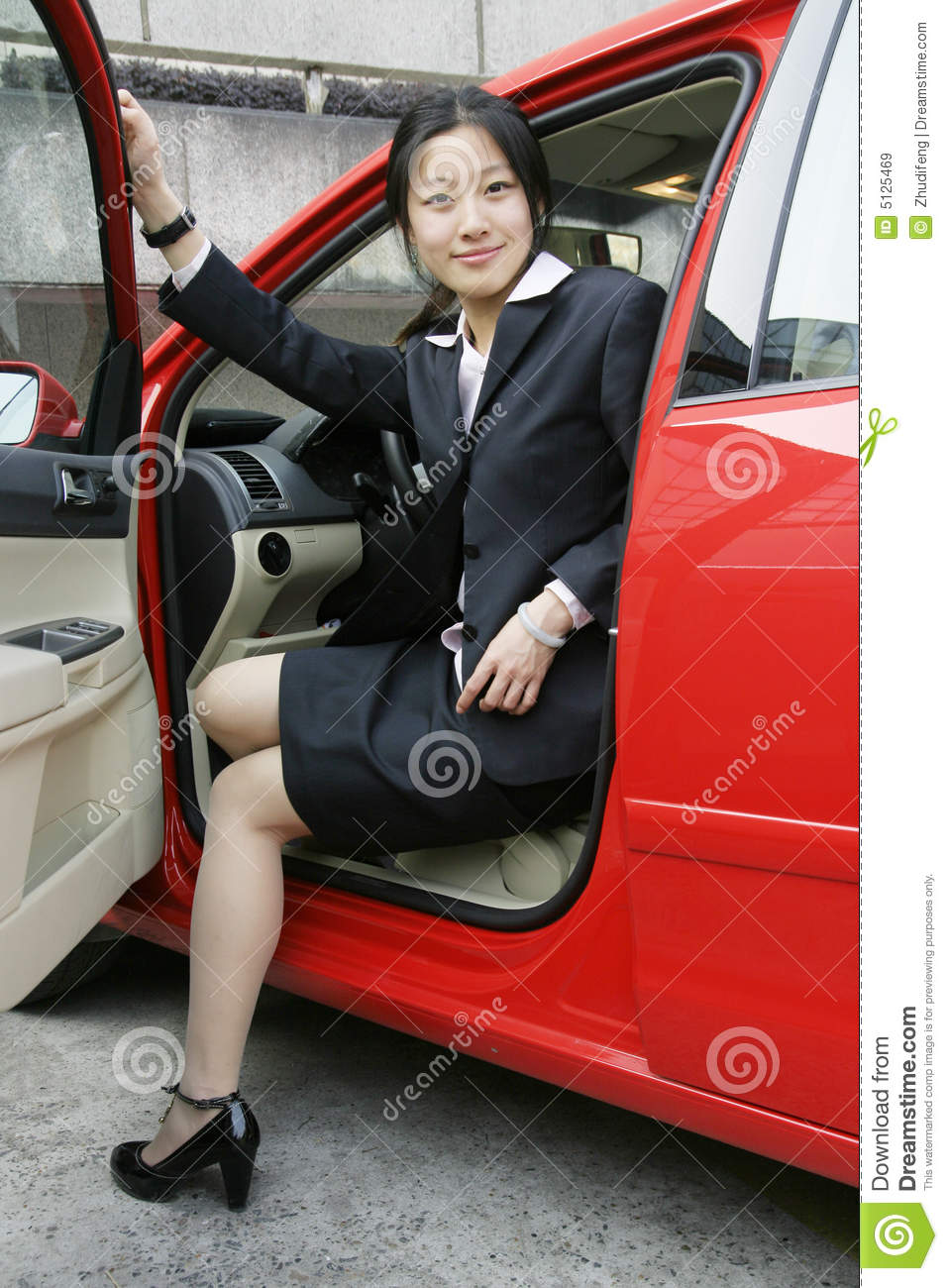 Business Women With Her Car Royalty Free Stock Images
