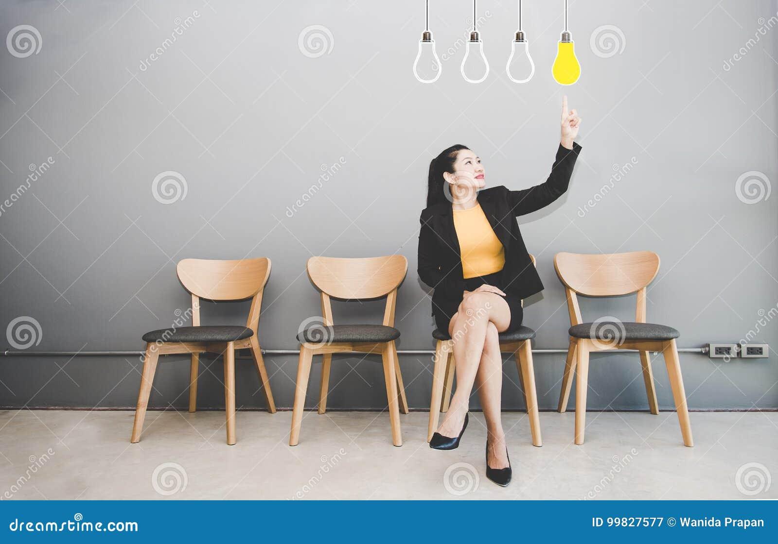 Business women Touching Innovation