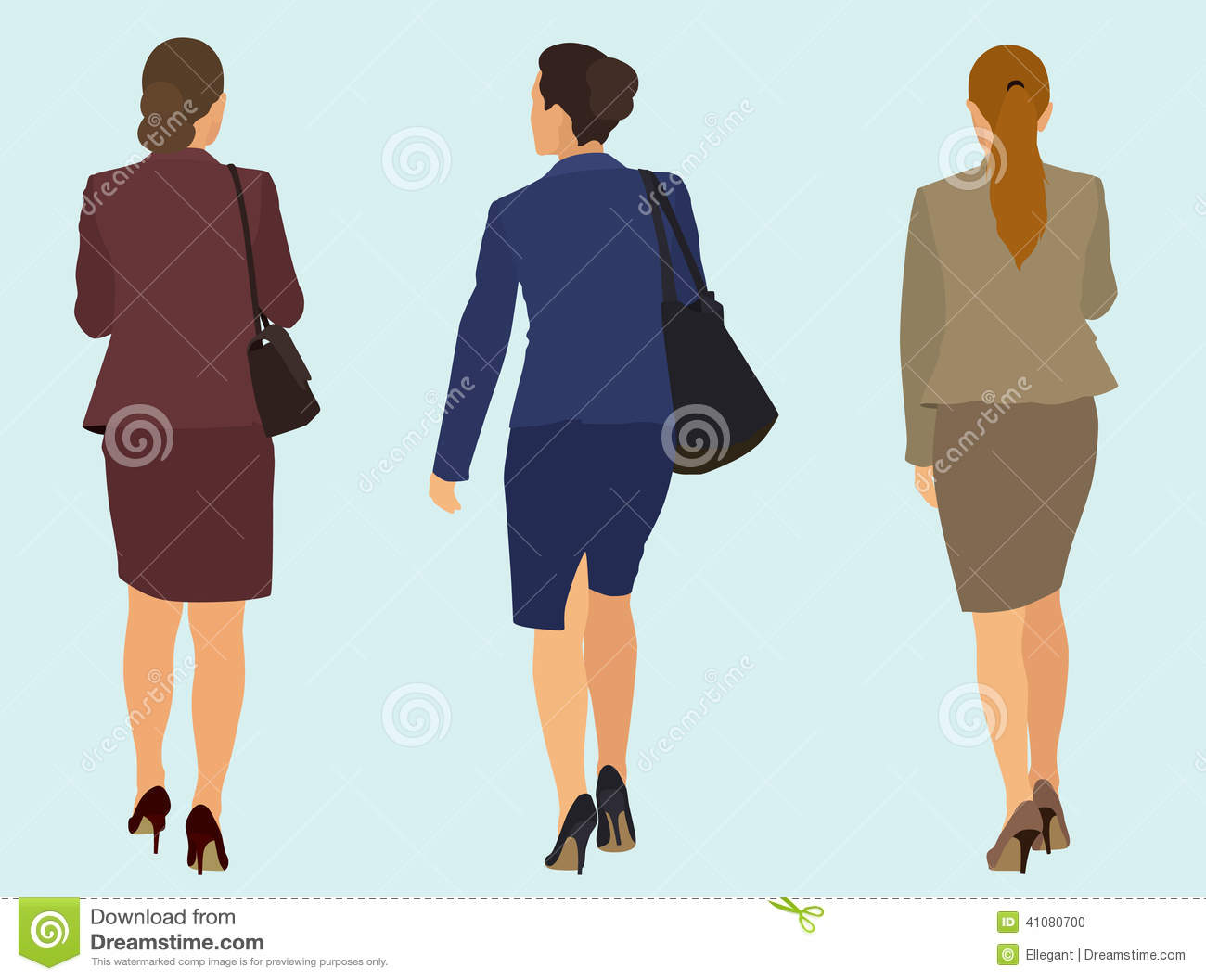 Business Women Walking Away Stock Vector - Image: 41080700