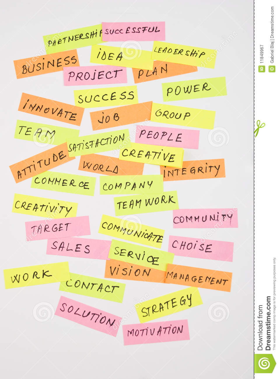 business words collage royalty free stock photography