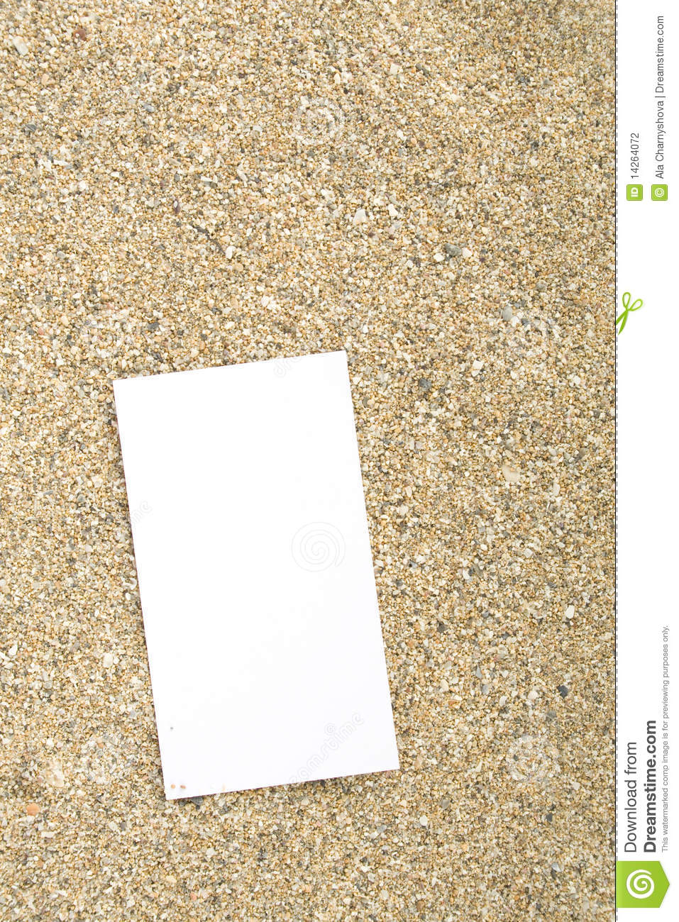 Businesscard on sand