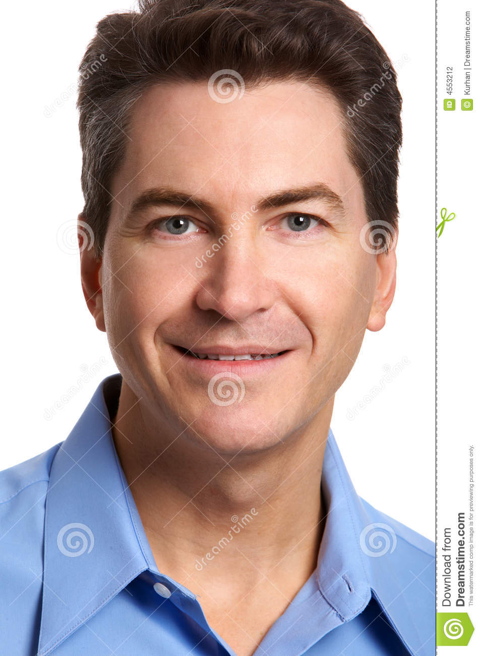 Businessman Smiling 40s On Isolated Background Stock ...