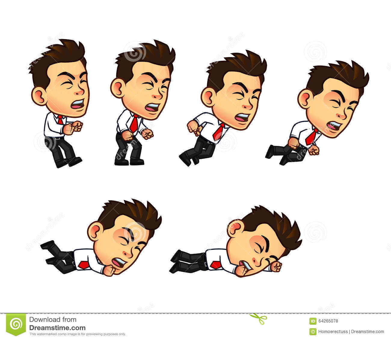 2d Character Design Software Free Download : Businessman animation sprite stock vector image