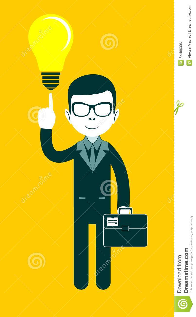 Businessman as a symbol of having an idea stock vector businessman as a symbol of having an idea buycottarizona