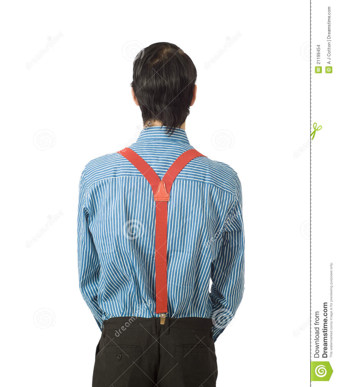 Businessman from the back