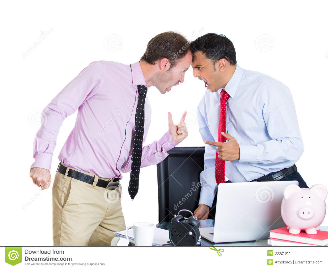 employee and his demanding boss stock photo image  businessman boss having an argument his employee stock image