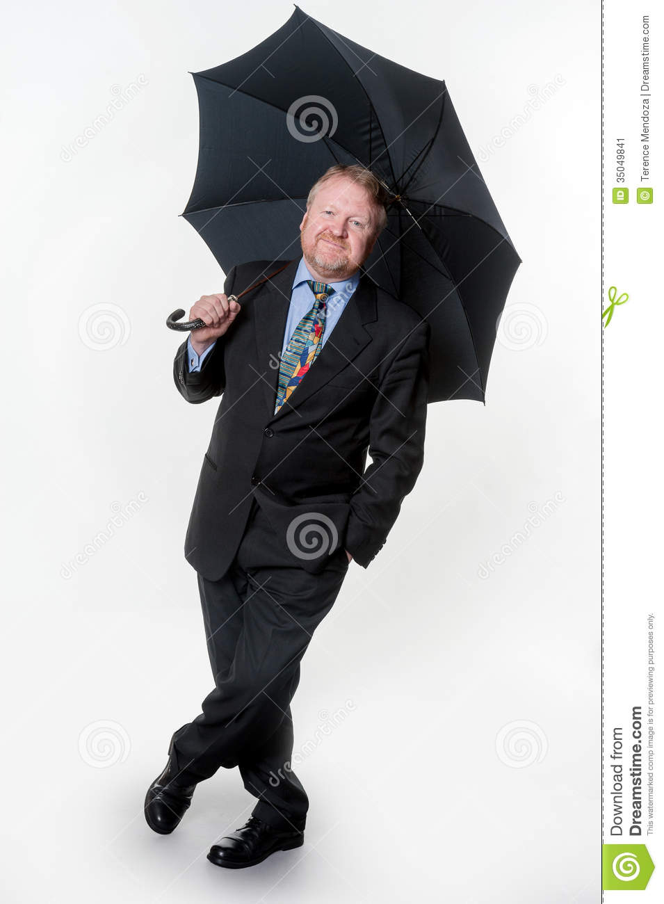 73cc68f6cbf Businessman With Bowler Hat   Brolly - On White Stock Image - Image ...