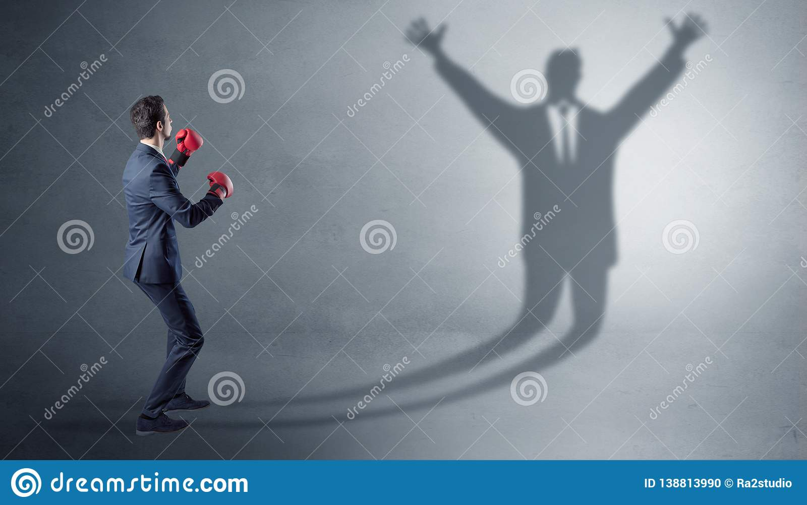 official photos efe2b 99354 Businessman fighting with a disarmed businessman shadow