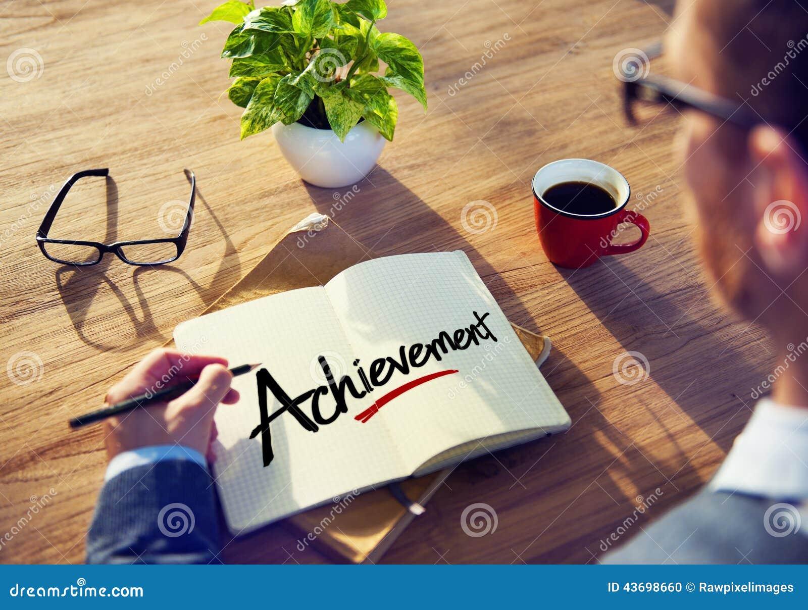 Businessman Brainstorming About Achievement Concepts