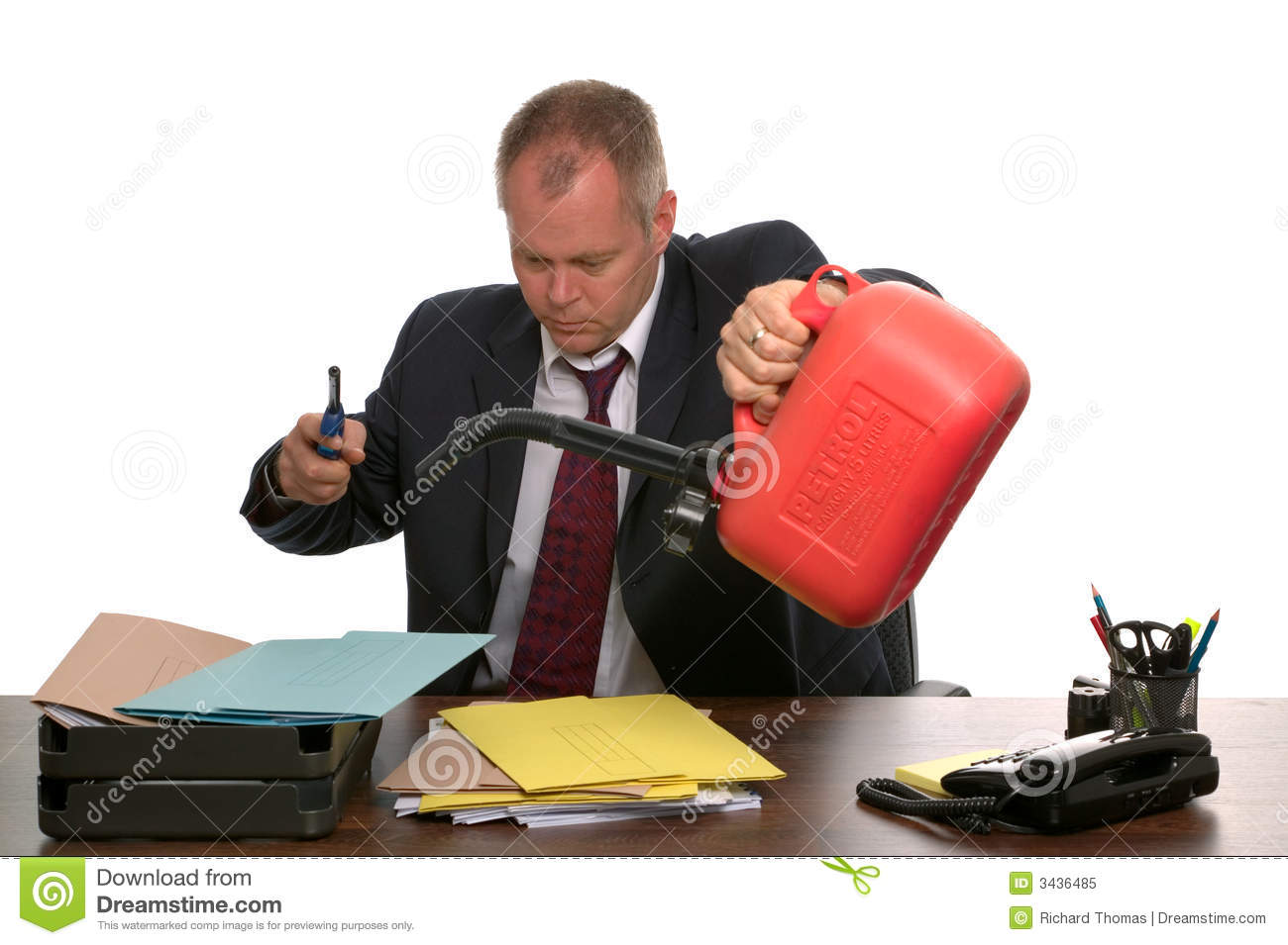 Businessman Burning Paperwork. Royalty Free Stock Photo - Image ...