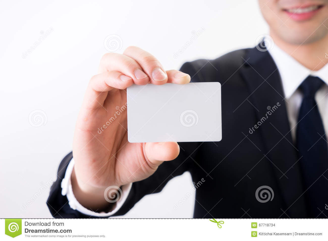 Businessman With Business Name Card , Contact Us Concept Stock Photo ...