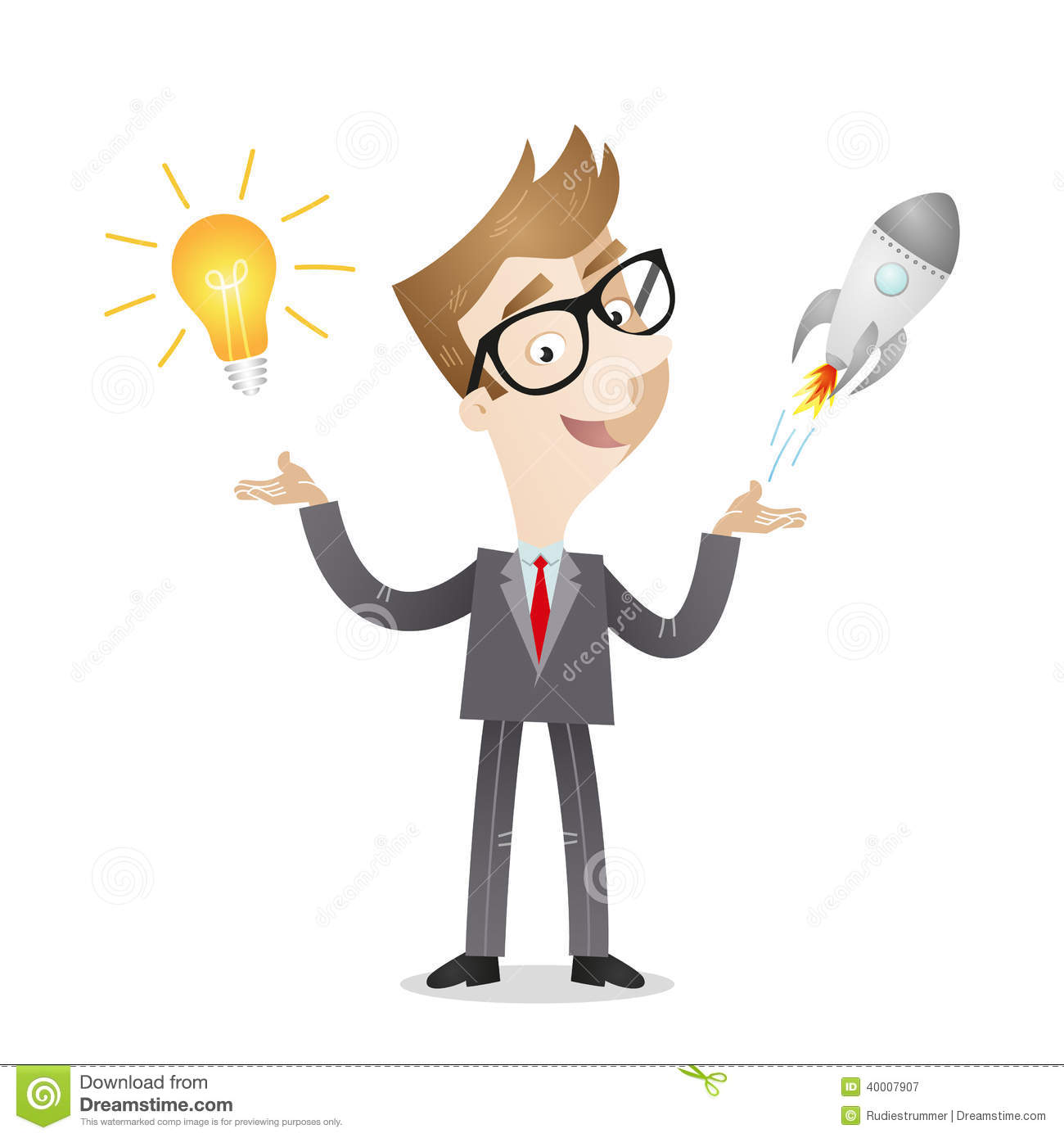 businessman business startup light bulb idea stock vector angles clipart angels clipart images