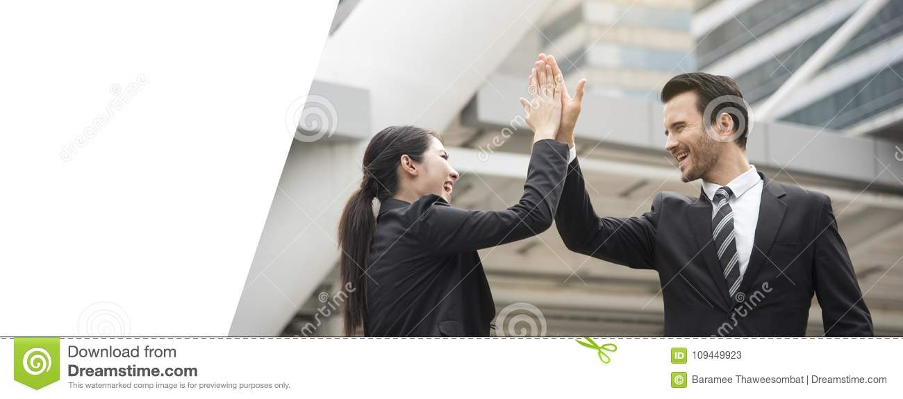 Businessman and businesswoman hands high five meeting greeting download businessman and businesswoman hands high five meeting greeting stock image image of concept m4hsunfo