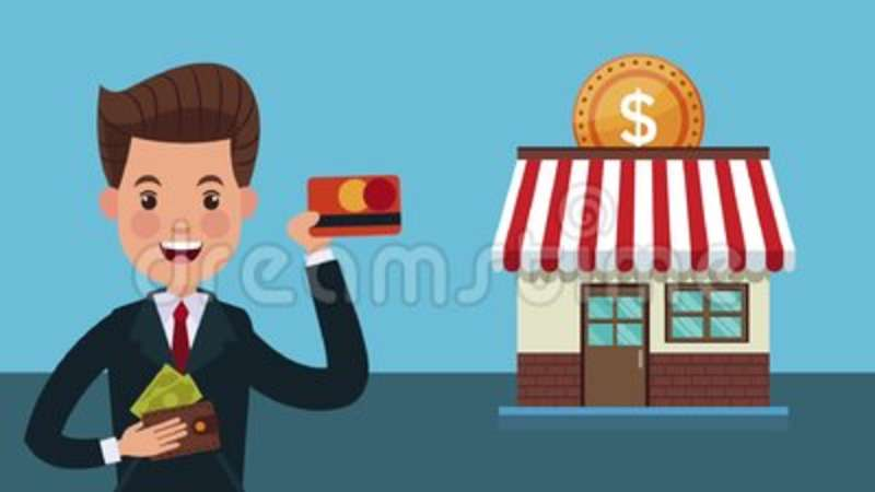 Businessman Buying In Store Hd Animation Stock Video Video Of Design Store 117359347
